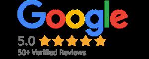 50+ 5 star reviews - Verified By Google
